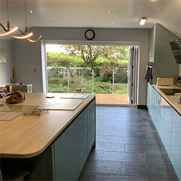 home extension with kitchen